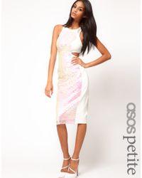 ASOS - Asos Petite Midi Dress in Mermaid Sequins - Lyst