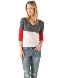 Enza Costa Cashmere V Neck Sweater - Lyst