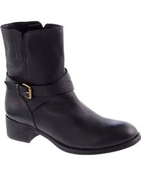 J.Crew Ryder Short Leather Buckle Boots - Lyst