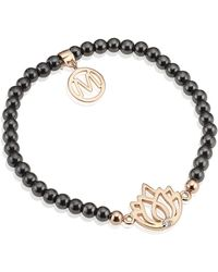 Melissa Odabash - Rose Gold Lotus Semiprecious Bracelet - Lyst