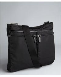 Prada Black Nylon Multipocket Messenger Bag - Lyst