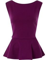 Therapy Peplum Top - Lyst