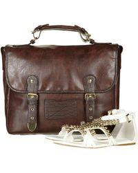 TOPSHOP | Snake Trim Satchel Bag | Lyst