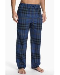 Burberry Check Pajama Pants - Lyst