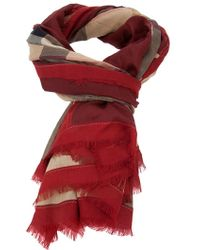 Burberry Brit - Checked Scarf - Lyst
