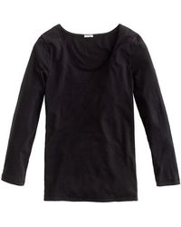 J.Crew Stretch Suiting Tee black - Lyst
