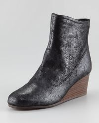 Luxury Rebel - Tracey Shiny Leather Wedge Bootie - Lyst