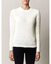 Acne Studios Lina Pineapple Knit Sweater beige - Lyst