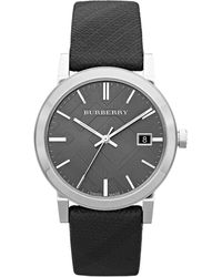 Burberry Womens Swiss Beat Check Fabric Strap 38mm - Lyst
