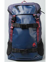 Nixon The Landlock Backpack in Navy Stripe - Lyst