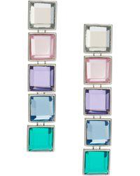Asos Gem Rainbow Earrings - Lyst