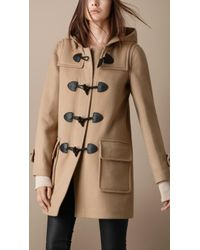 Burberry Brit Check Lined Duffle Coat - Lyst