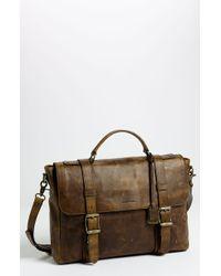Frye 'Logan' Leather Flap Briefcase brown - Lyst