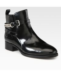 McQ by Alexander McQueen Leather Chain Ankle Boots - Lyst