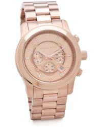 Michael Kors Oversized Watch - Rose Gold - Lyst