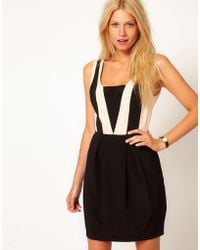 Oasis Colour Block Dress black - Lyst
