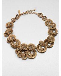 Oscar de la Renta Spiral Collar Necklace - Lyst