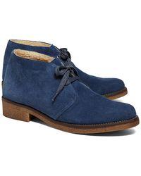 Brooks Brothers Calfskin Suede Desert Heel Boot - Lyst