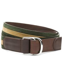 Brooks Brothers Stripe Suede Dring Belt - Lyst