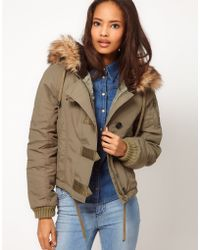 ASOS Collection Asos Cropped Bomber Jacket - Lyst