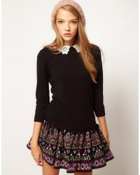 ASOS Collection Asos Lace Collar Jumper - Lyst