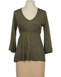 Burberry London Long Sleeve T-Shirt green - Lyst