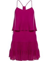Haute Hippie Ruffled Mini Dress - Lyst