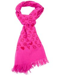 Marc By Marc Jacobs Letter Printed Shawl pink - Lyst