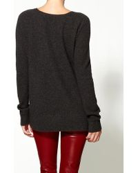Vince Moss Stitch Side Button Sweater - Lyst