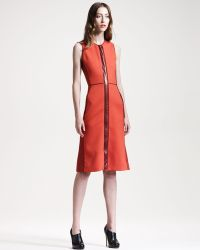 Reed Krakoff Leathertrim Colorblock Dress Lyst