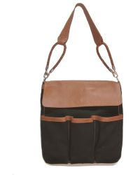 Alexandra De Curtis Allegra Coffee Fabric and Biscuit Leather - Lyst