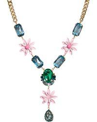 Asos Jewel Flower Necklace - Lyst