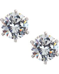 CZ by Kenneth Jay Lane - Round Cubic Zirconia Stud Earrings  - Lyst