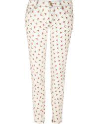 D&G Floralprint Straight-leg Jeans - Lyst