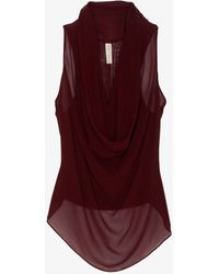 Maggie Ward - Preorder Exclusive Sheer Chiffon Cowl Blouse - Lyst