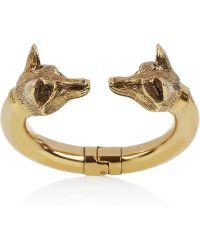 Burberry Burnished Goldtone Fox Bracelet - Lyst
