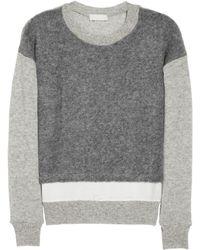 CLU Silk Trimmed Wool Blend Sweater - Lyst