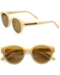 Karen Walker Anywhere Round Acetate Sunglasses - Lyst