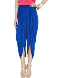 Willow - Pleated Silkcrepe Harem Trousers - Lyst