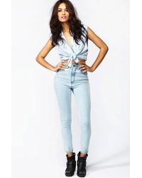 Nasty Gal The Kink Highrise Jean Glacier - Lyst
