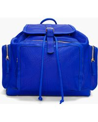 Pierre Hardy | Blue Leather Backpack | Lyst