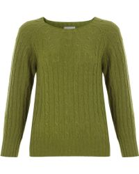 Margaret Howell - Green Cashmere Cable Knit Jumper - Lyst