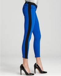 Retrosuperfuture - Hudson Jeans Leeloo Color Block Skinny Crop in Blue - Lyst