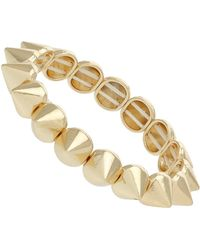 Topshop Single Spike Stretch Bracelet - Lyst