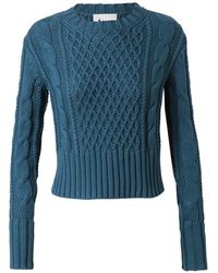 Acne Studios Lia Cable Knit Cotton Jumper - Lyst
