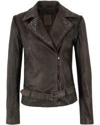 Ash - Melanie Tan Leather Jacket - Lyst