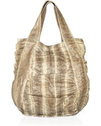 Beirn - Jenna Ruched Watersnake Tote - Lyst