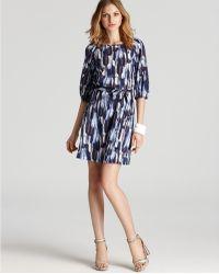 Julie Dillon - Shift Dress Three Quarter Sleeve Printed - Lyst