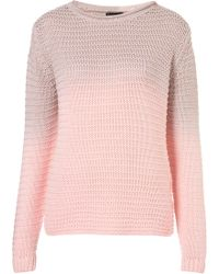 Topshop Knitted Dip Dye Chunky Jumper - Lyst