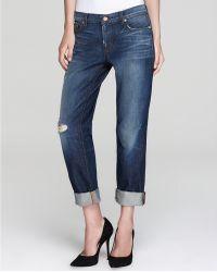 Ash - J Brand Jeans Distressed Boyfriend in Ringer Wash - Lyst